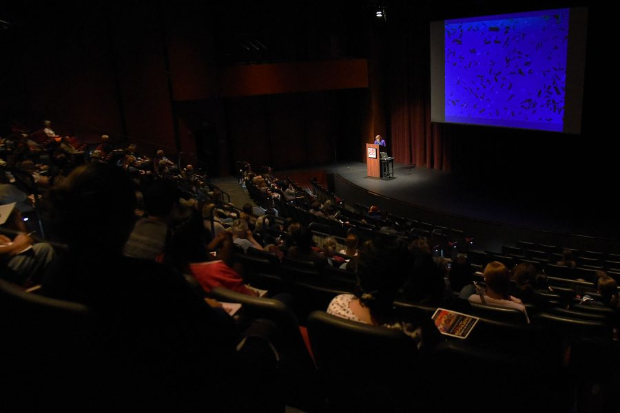 """Pat Mora gave the 47th annual May Hill Arbuthnot Honor Lecture that she titled """"Book Joy! ¡Alegria en los libros!"""" on Friday evening, April 15, in the Garvin Theatre at Santa Barbara City College. Mora is an award-winning author of dozens of award winning children's books, many of which represent the Mexican-American experience."""