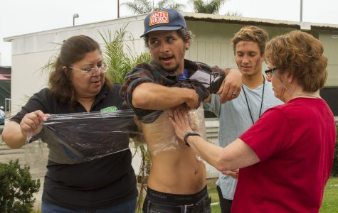 SBCC faculty face blood and panic during disaster simulation