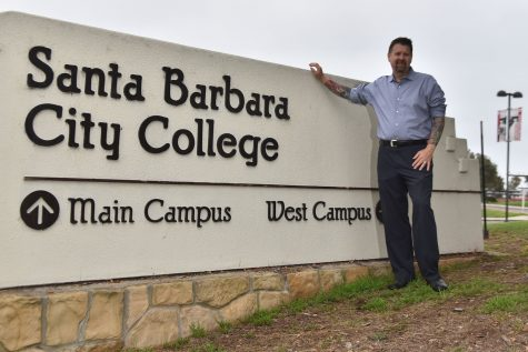 Dr. Paul Jarrell stands at the entrance to City College West Campus on Friday, Sept. 2. Jarrell joined City College in mid-June as the new executive vice president of educational services.
