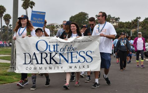 SBCC students march for suicide awareness at Leadbetter Beach