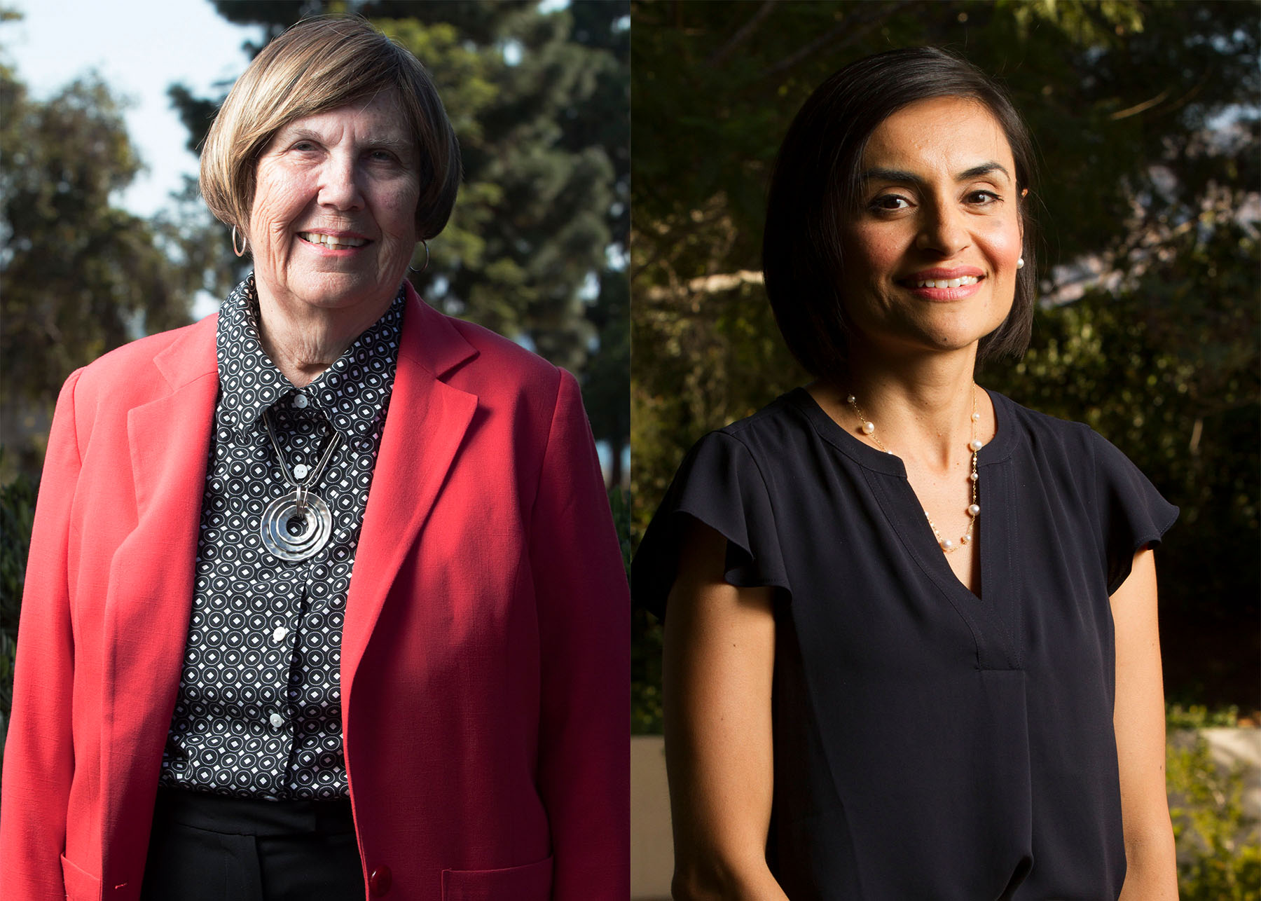 Marianne Kugler (left) and Veronica Gallardo are up for re-election to the Board of Trustees, Thursday, Sept. 29, at City College. Kugler and Gallardo are running uncontested along with Craig Nelson, who was unavailable to be photographed.