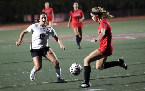 Vaquero freshman Katherine Sheehy (No. 4) plays defense against Cuesta College late in the second half on Friday Oct. 21, at City College's La Playa stadium. The City College defeated Cuesta College 3-0.