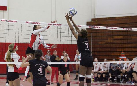 SBCC women's volleyball sweeps Victor Valley College in all sets