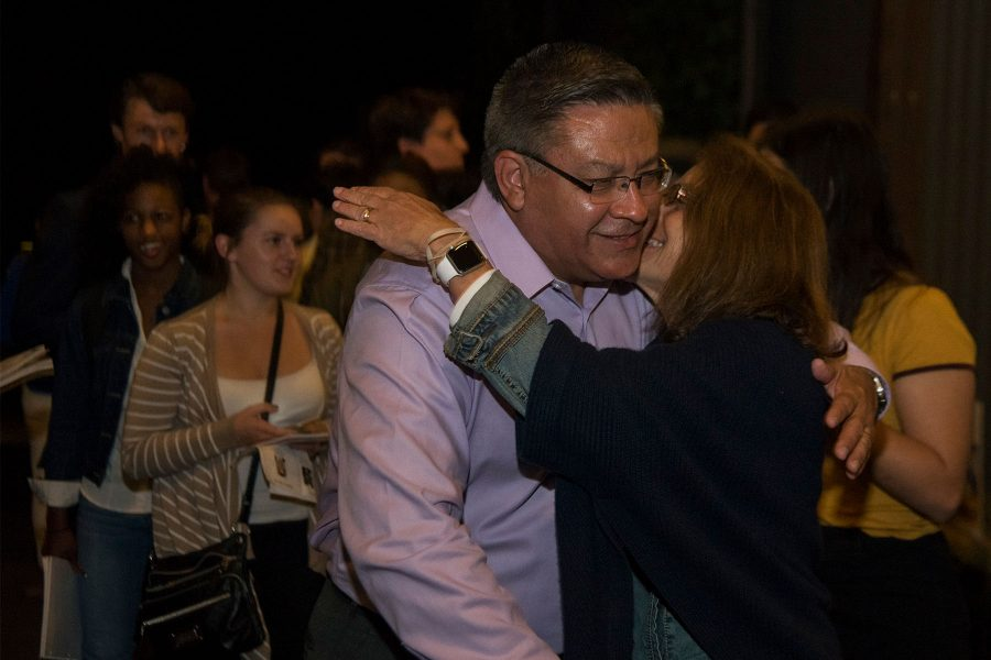 Salud+Carbajal+is+congratulated+by+supporters+as+he+enters+the+Democrat+election+party+on+Tuesday%2C+Nov.+8%2C+at+The+Mill+in+Santa+Barbara.+Despite+the+loss+at+the+position+of+President%2C+the+local+democrats+are+still+hopeful+for+the+future.