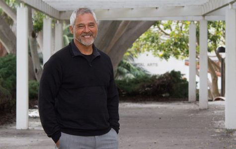 Academic Counselor Oscar Zavala on Thursday, Feb. 9, outside the Student Services building. After 29 years as an Academic Counselor to students, Zavala will be retiring through the Supplemental Early Retirement Program.