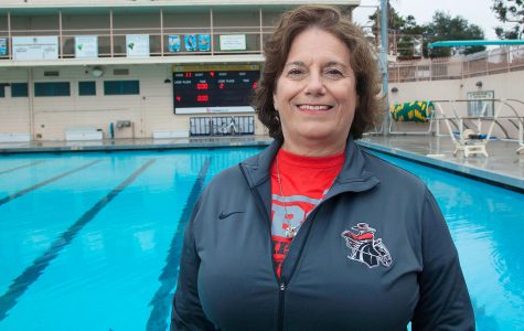 New Diving Coach Trish Salvatore on Monday, Feb. 20, at the Santa Barbara High School swimming pool. Salvatore is the new diving coach for the City College women's swimming team and she is the head dive coach at Santa Barbara High School.