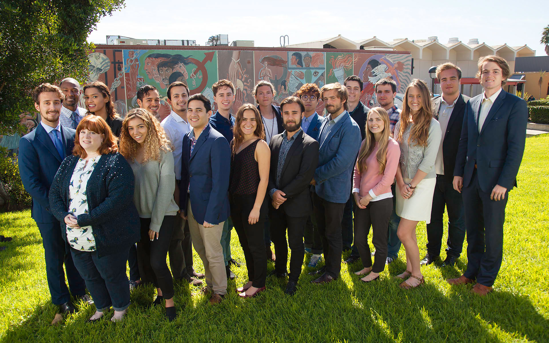 The Student Senate poses for a group portrait outside the Campus Center, Feb. 24, at  City College.