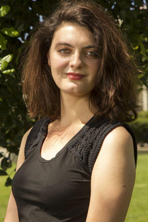 Charlotte Donnay Rochard, running for student senate president.