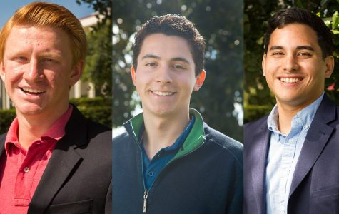 The Channels endorses these candidates from Left, Student Trustee Candidate Parker Mitchell, Presidential Candidate Christian Walk, and Matthew Esguerra, running for vice president of external affairs.