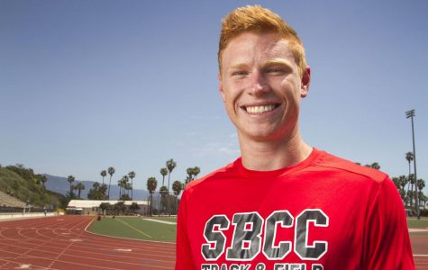 Chris Aichinger broke SBCC pole vault record twice in one day