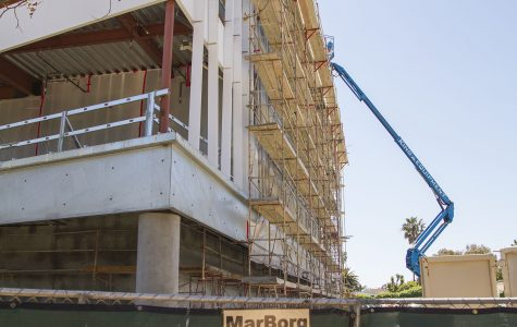 The West Campus building under construction on Thursday, April 20, at City College. The renovation will be complete next spring.