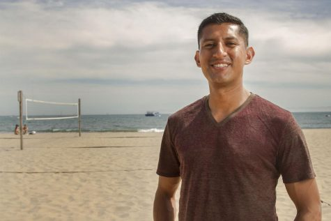 Hugo Martinez, City College American Sign Language tutor, on Thursday, April 27, at Santa Barbara East Beach. Martinez was selected for the USA Men's Deaf Volleyball team for the 2017 Deaflympics in Samsun, Turkey.