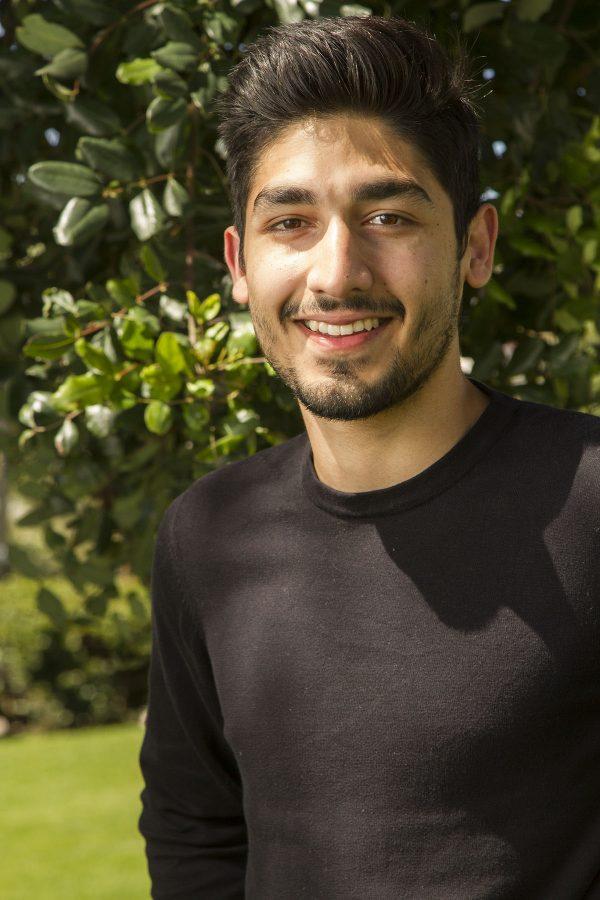Imran Akram, running for student senate president.