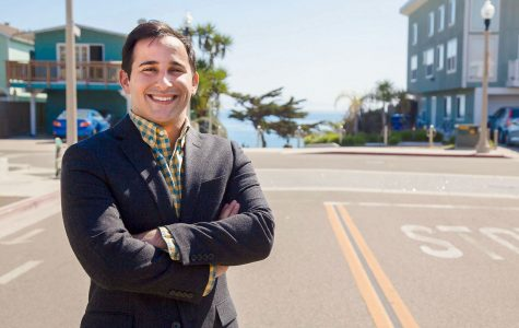 Jonathan Abboud poses for a portrait at on of his favorite places in Isla Vista at the corner of El Embarcadero Rd and Del Playa Rd in Isla Vista, Santa Barbara (Calif.) on Thursday, March, 16, 2017. Abboud is the Vice President of the Board of Trustees at Santa Barbara City College and went to the National Legislative Conference for Community Colleges to advocate for City College.
