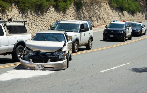 Sacramento Jimenez's Toyota Corolla was rear-ended and totaled in a five-car pileup around 1 p.m., Monday, Aug. 28., 2017, while driving East on Cliff Drive near Santa Barbara City College. All occupants of the cars involved were uninjured in the crash.
