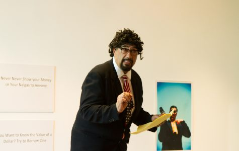 Dr. Tomas Carrasco leads Chicano satire performance