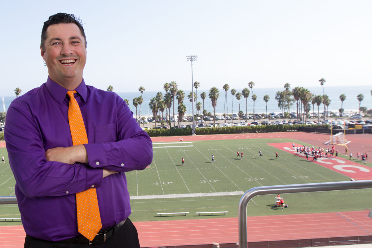 New Santa Barbara City College Athletic Director Rocco Constantino on Thursday, Sept. 7, 2017, on top of the La Playa Stadium at City College. Constantino comes from New Jersey and moved out to Santa Barbara as soon as he saw how beautiful it is here.