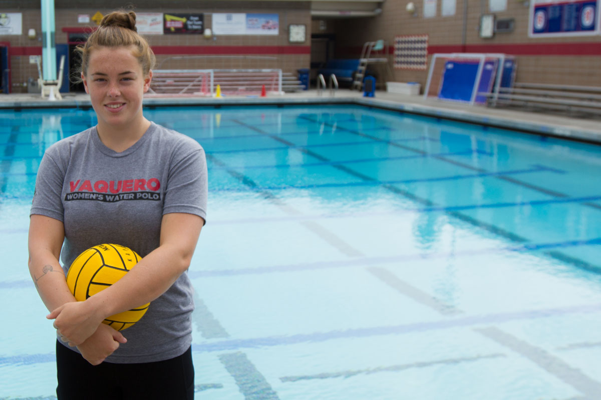 Water Polo superstar, Emma Fraser, Wednesday, Sept. 20, at San Marcos High School in Santa Barbara, Calif. Fraser was selected to represent Canada in the FINA Junior World Water Polo Championships in Greece where her team placed 8th out of 16.