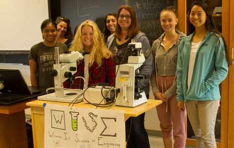 The Women in Science and Engineering club meeting Friday, Sept. 22 in Earth and Biological Sciences Room 210 at City College. The club was meeting to get a workshop for writing their STEM resume and cover letters.