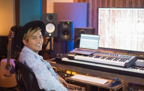 Joveth Jorquia puts the finishing touches on his new album in his music studio, DMXO Records. Joveth opened the studio in May of this year, sharing a building with his old teacher Dom Camardella, who taught at City College for 15 years.