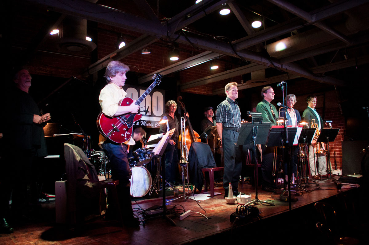 "The Monday Madness Big Band playing at SOhO Restaurant and Music Club Monday, Sept. 18, 2017, at the SOhO Restaurant and Music club in Santa Barbara, Calif. The band was founded and conducted by Chuck Woods in 1988 and is now conducted by Issac ""Ike"" Jenkins."