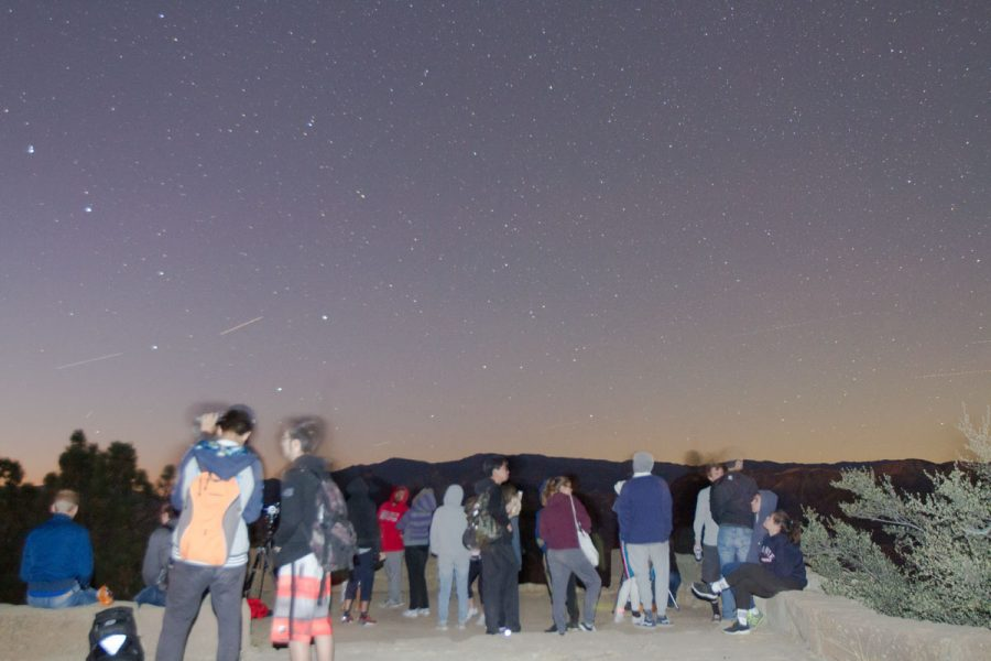 The adventure club and astronomy club under the stars at Knapp's Castle Saturday, Oct. 21, in the Santa Ynez Mountains near Santa Barbara, Calif. The two clubs collaborated together to set up this event for people to meet new people and find fun activities to do in Santa Barbara.