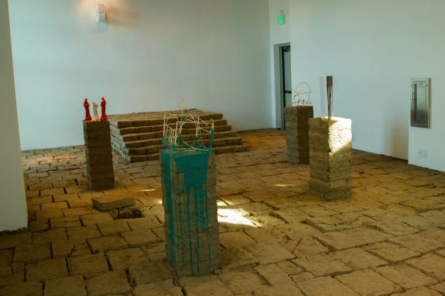 "Rafa Esparza's ""For You and the Sky"" exhibit Monday, Nov. 20, in the Atkinson Gallery. Half of the bricks being taken from the project will be used for City Colleges' sculpting class, the other half will be used for Esparza's next exhibit titled ""The Border Crossed Us."""
