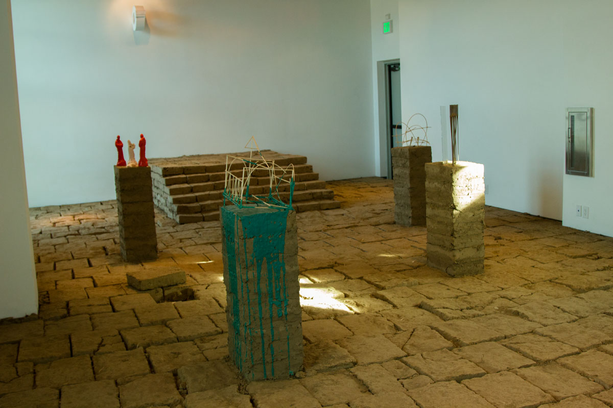 """Rafa Esparza's """"For You and the Sky"""" exhibit Monday, Nov. 20, in the Atkinson Gallery. Half of the bricks being taken from the project will be used for City Colleges' sculpting class, the other half will be used for Esparza's next exhibit titled """"The Border Crossed Us."""""""