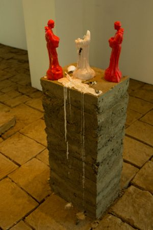 """Artwork on display in Rafa Esparza's """"For You and the Sky"""" exhibit Monday, Nov. 20. in the Atkinson Gallery."""