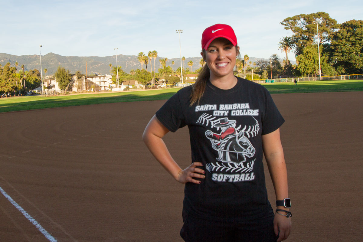 New City College softball head coach Justine Bosio Tuesday, Nov. 21, at Pershing Park. Bosio has spent the last two seasons as an assistant coach of the team and is now replacing Paula Congleton after Congleton received an offer to coach at the University of New Mexico.