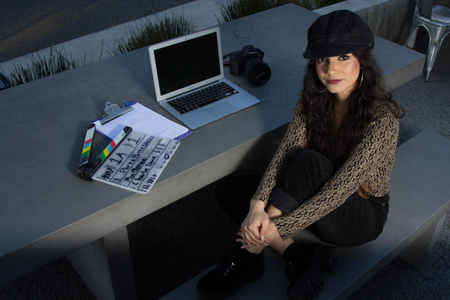 Mia Moran, 19, on Monday, Feb. 12, in Santa Barbara, Calif., recently directed her student film called 'A Porta Potty Odyssey.' The film was recently shown at the Santa Barbara International Film Festival.