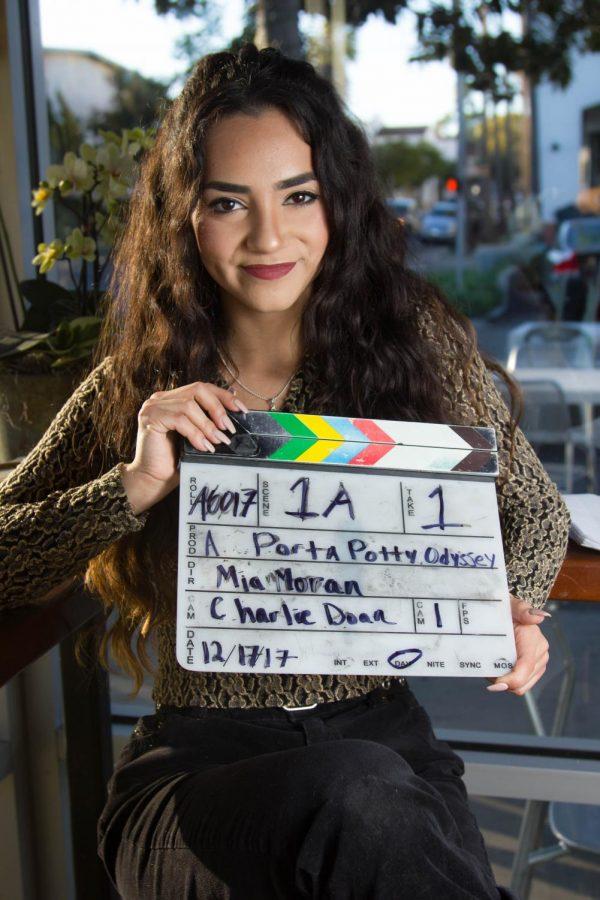 Mia Moran, 19, on Monday, Feb. 12, in Santa Barbara. Moran directed a student film called 'A Porta Potty Odyssey.' The film was her first film shown at the Santa Barbara International Film Festival.