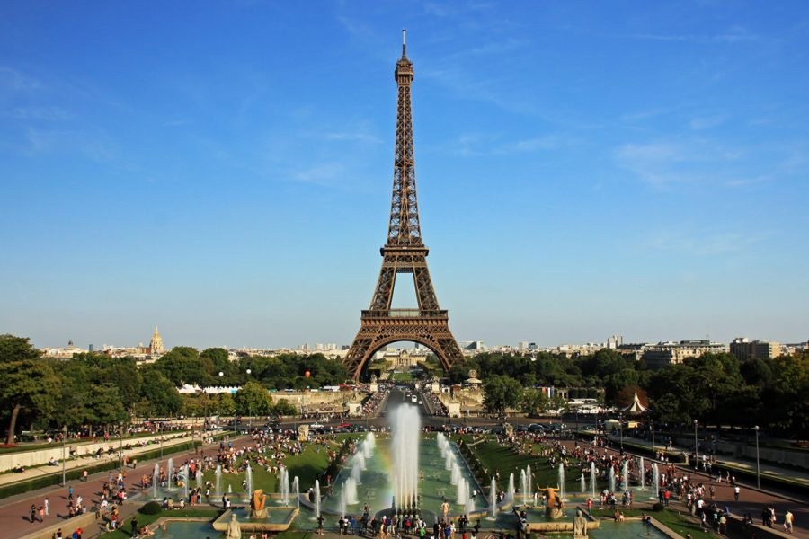 The Eiffel Tower from Trocadero in Paris, France, on July 31, 2011.