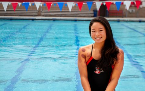 Fast SBCC swimmer from Hawaii takes measures such as cupping to elevate her to the top