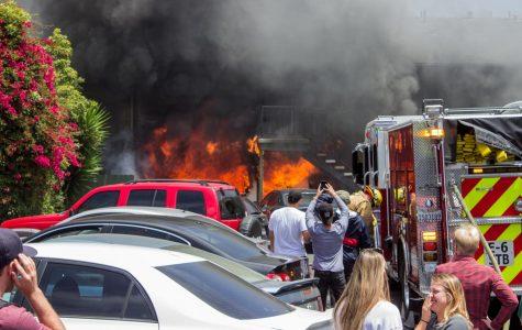 SB Fire Department battles apartment fire on Cliff Drive