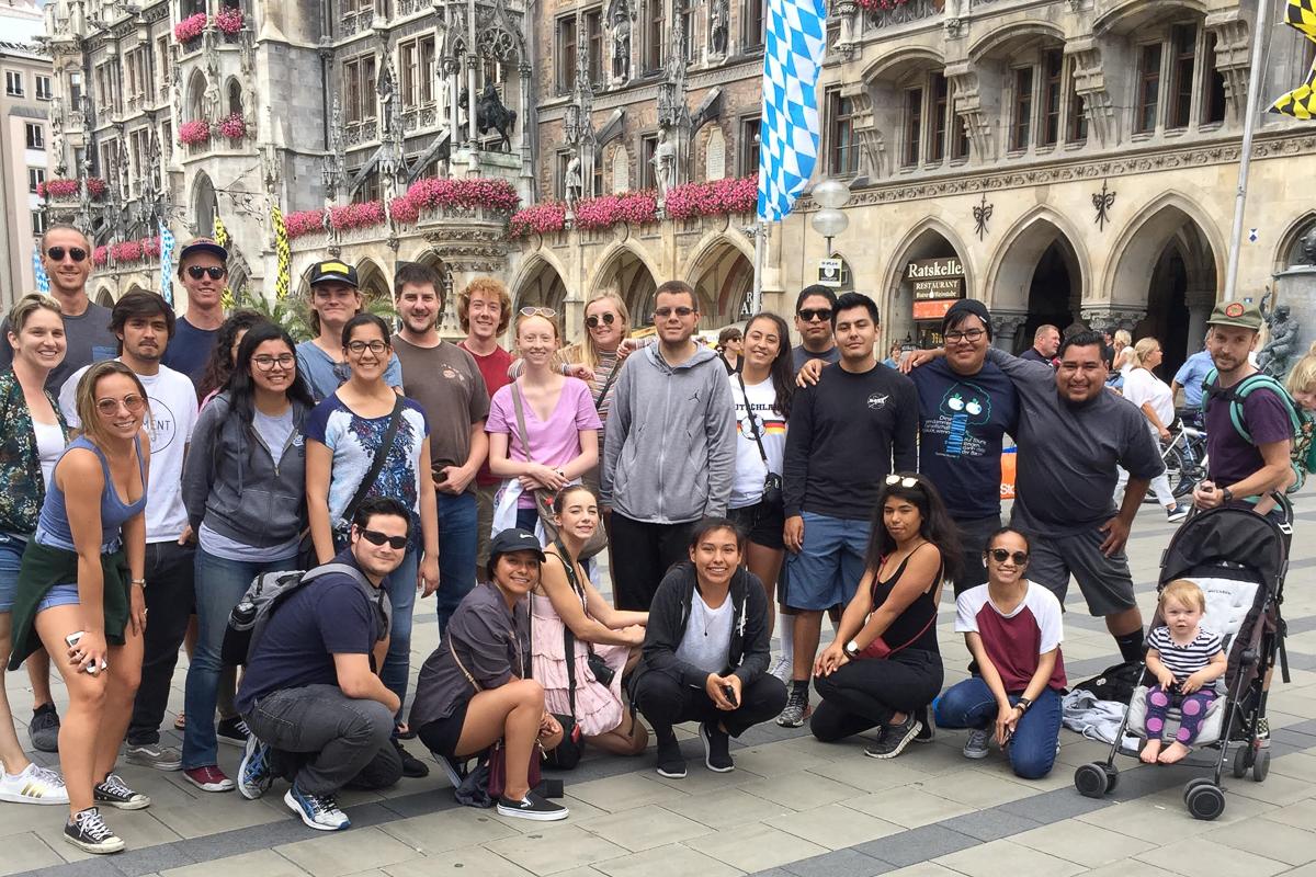 Summer 2018 Germany program group in Munich, Bavaria. Photo courtesy of Raeanne Napoleon.