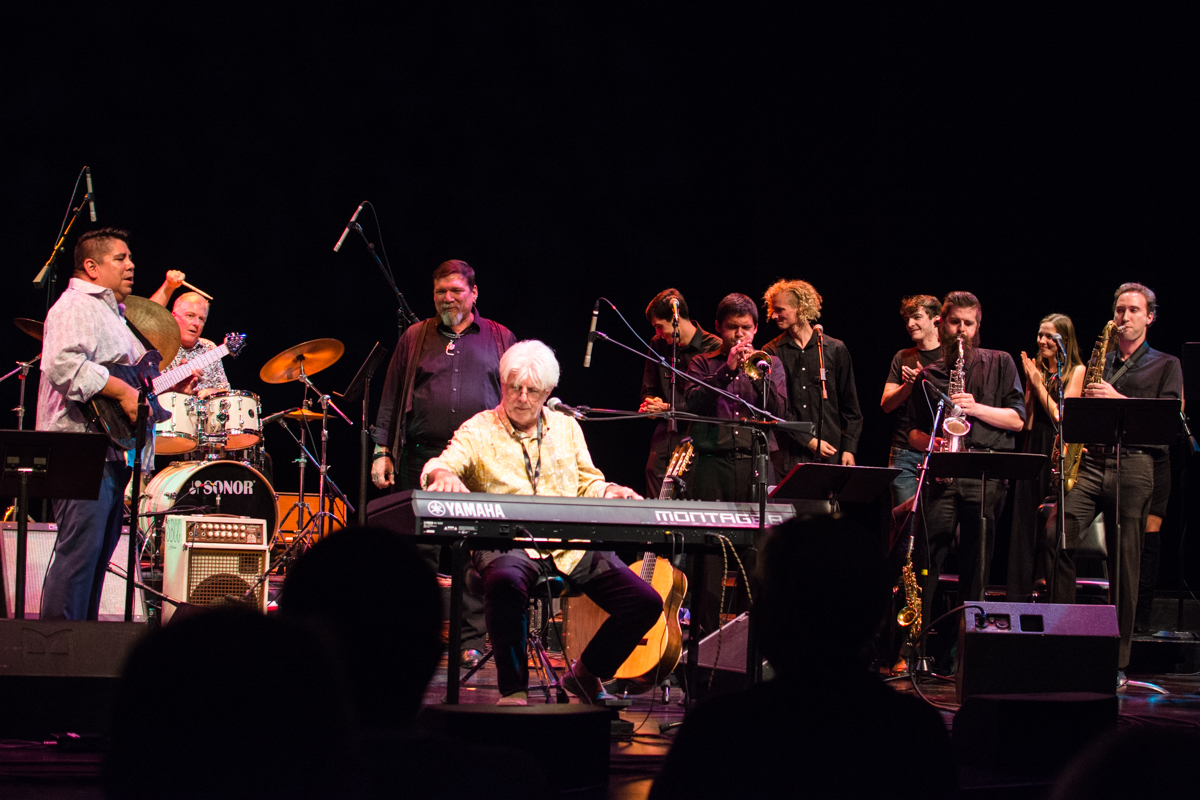 The Lobero Theatre held a benefit concert to help City College's music program on Wednesday, Oct. 10, 2018 in Santa Barbara, Calif. The concert was headlined by former Doobie Brothers member Michael McDonald, and also featured City College's New World Jazz Ensemble, singer Tess Erskine, and the Lunch Break Jazz Band.