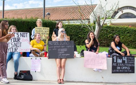 Outraged students protest graphic abortion photos