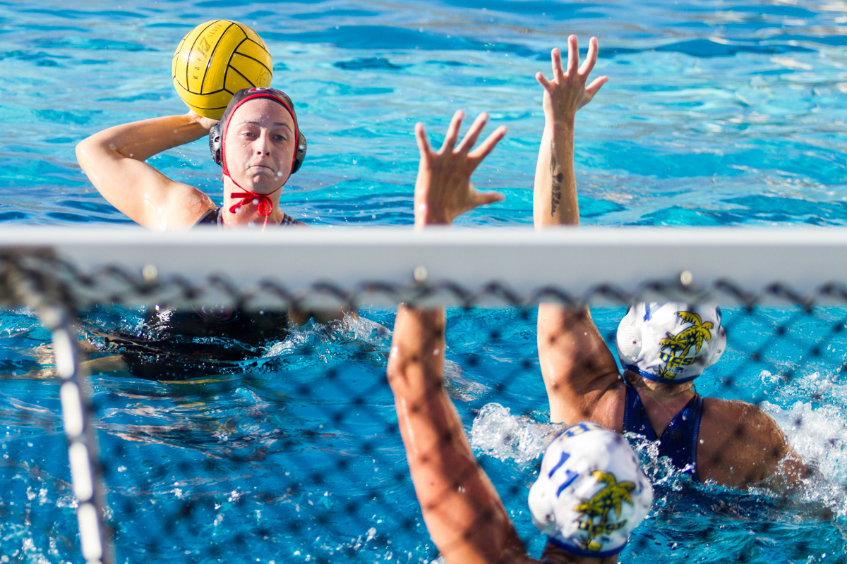 Kemi Dijkstra, utility player for the Lady Vaqueros, scores the fourth goal in the first quarter of the game against the Gauchos on Saturday, Oct. 27, at Santa Barbara High School in Santa Barbara, Calif. Dijkstra scored three goals against UCSB, and City College won the game, 13-5.