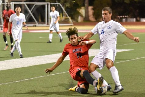 SBCC men's soccer scores game-tying goal in last ten seconds
