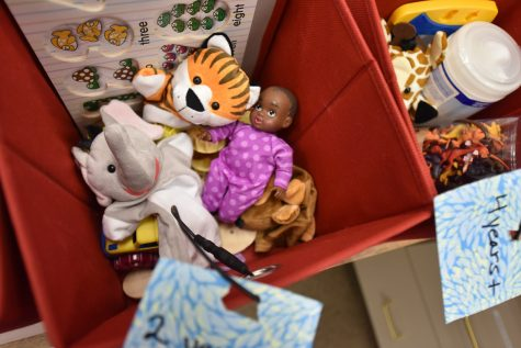 Luria Library offers boxes of toys to children of City College students. The library also offers board games, and has a lounge area, allowing students to keep close to their children while they study or use school resources such as computers and printers.