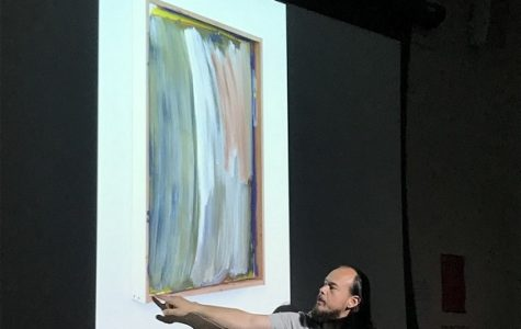 SBCC art instructor gives lecture on how he creates abstract art