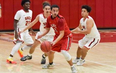 SBCC men's basketball triumphs over Vaquero alumni players