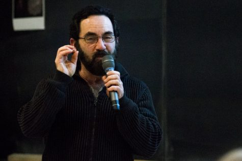 Philip Lubin, a professor at the UCSB Physics Department, discusses his most recent projects during an event hosted by the Astronomy Club on Thursday, March 14 inside the Physical Science Building Room 101 at City College. Lubin is a member of the NASA Starlight Team.