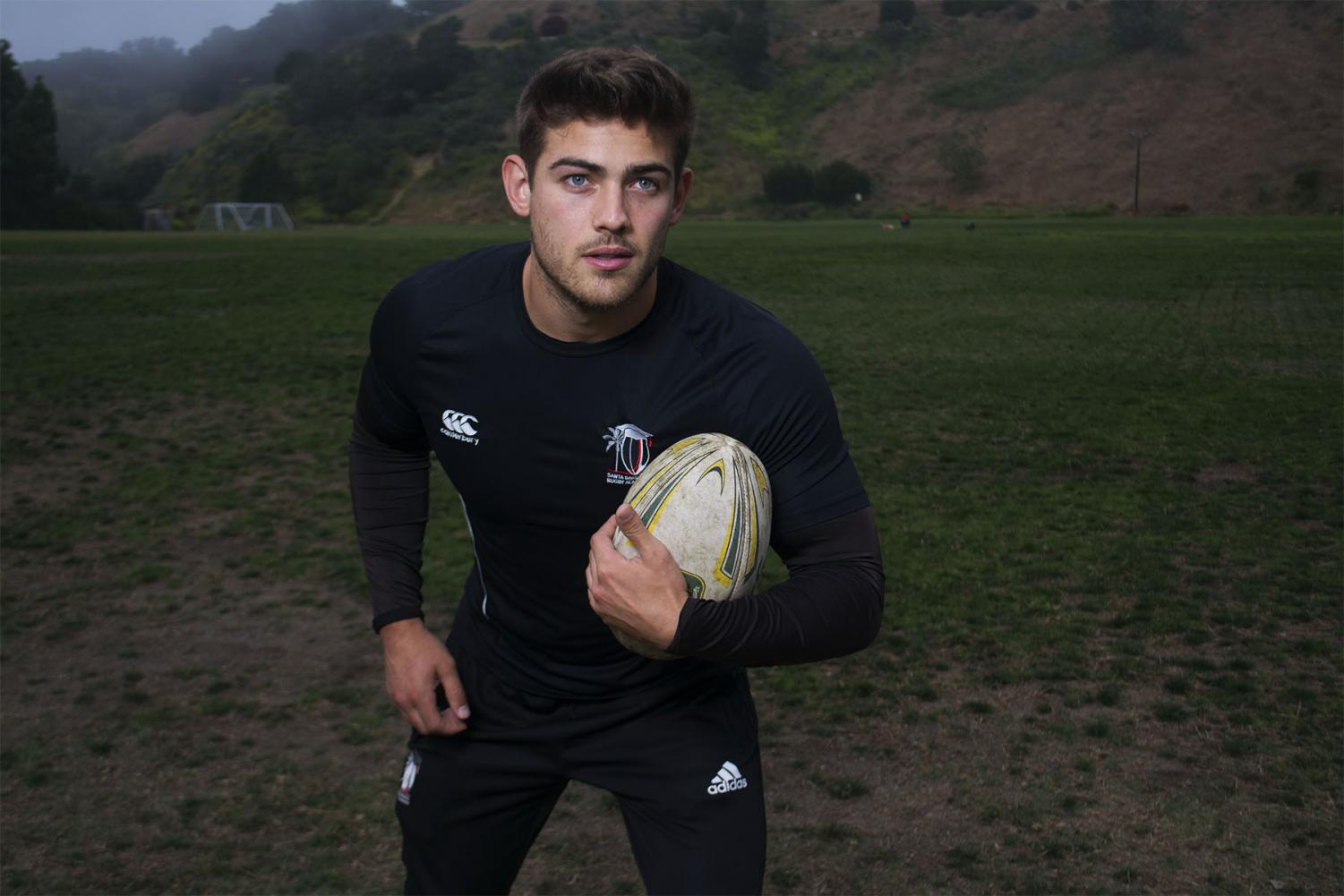 Vaquero's rugby player Chris Noggle poses before practice at 7 p.m. on Thursday, April 24, 2019, at Elings Park in Santa Barbara, Calif.