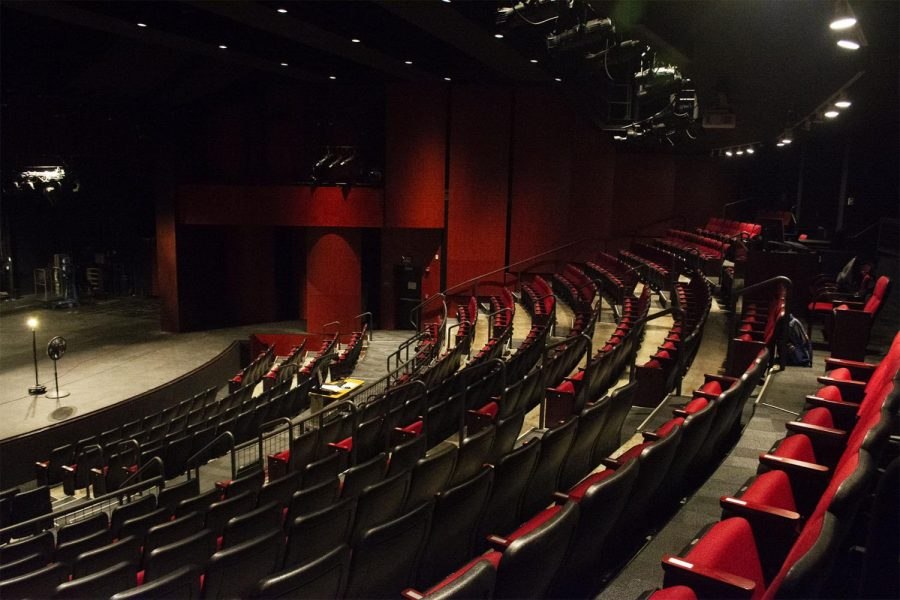 The Garvin Theatre on West Campus at City College in Santa Barbara, Calif. The theatre is used for larger scale, more professional productions put on by the school.