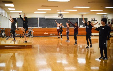 Club president Mimi Vorosmarthy leads the Kpop club during a meeting on Friday, April 5, 2019, at City College in Santa Barbara, Calif. The club meets every Friday at 2 p.m. in Physical Education Room 114.