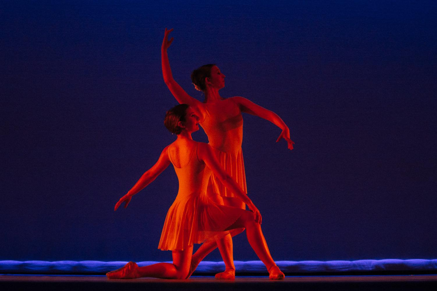 """Dancers from the Santa Barbara Festival Ballet preform a piece called """"For the Love of Henry"""" during the SBCC Dance Company's Dance Collective on Friday, April 12, 2019, in the Garvin Theatre at City College in Santa Barbara, Calif."""
