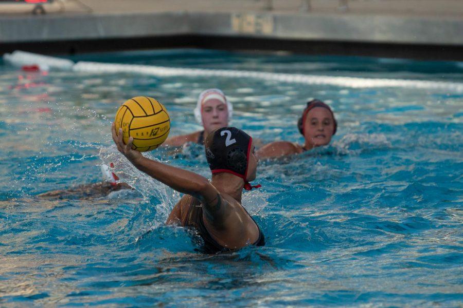 Taylor Brooks moments before scoring a goal on Wednesday, Sept. 25, 2019, at Santa Barbara High School in Santa Barbara, Calif.