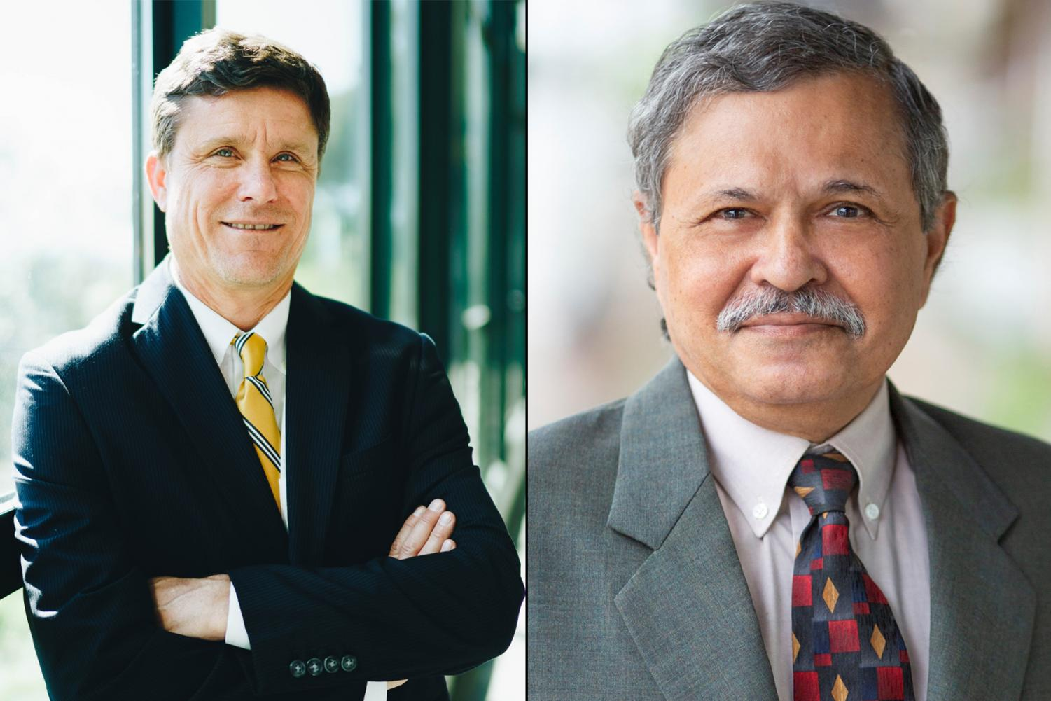 Dr. Kenneth Lawson (left) and Dr. Utpal K. Goswami are the two finalists for the position of Superintendent/President at City College. Photo courtesy of City College.